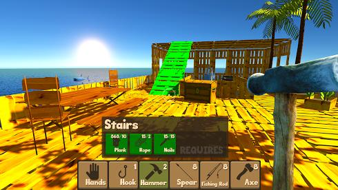 Raft Survival Simulator для Android скриншот 2