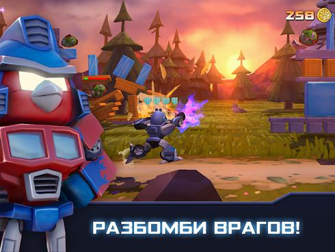 Angry Birds Transformers для Android скриншот 2